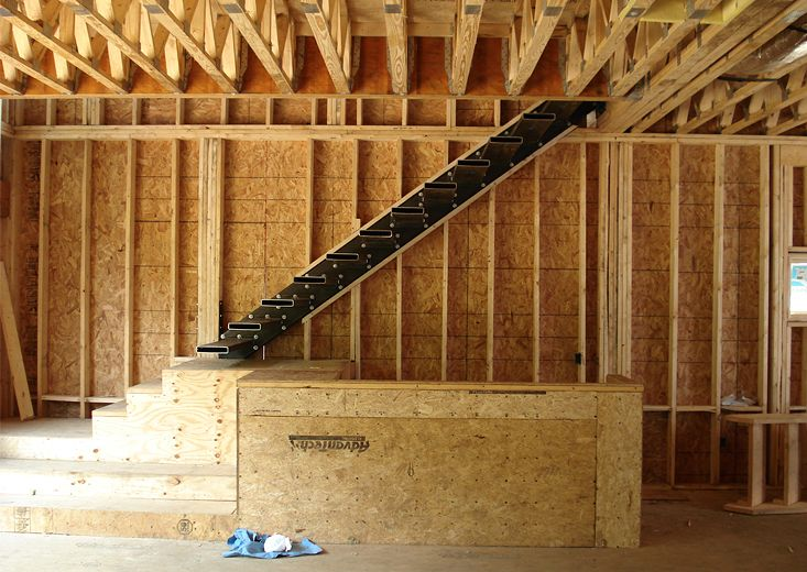 Floating Stairs Construction Method.