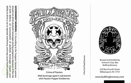mybeerbuzz.com - Bringing Good Beers & Good People Together...: Bullfrog Brewery Crime Of Passion Coming To Bottle...