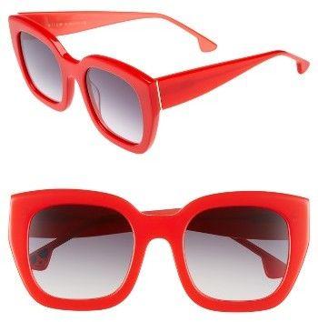 39fb610201 Women s Alice + Olivia Aberdeen 50Mm Square Sunglasses - Black  White