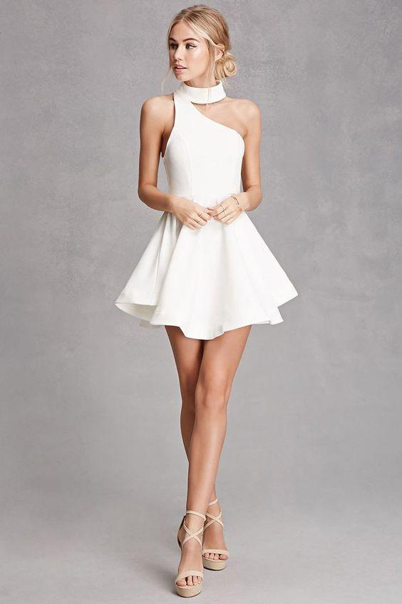 Ivory Homecoming Dresses,Sexy Graduation Dress