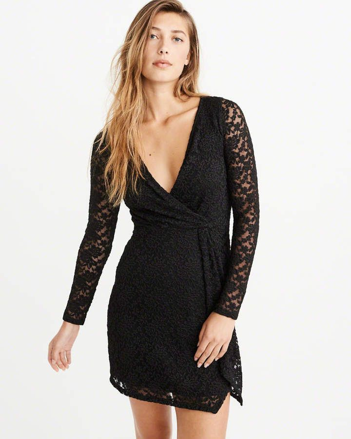 66b25b4bf5 Abercrombie   Fitch Twist-Front Lace Dress