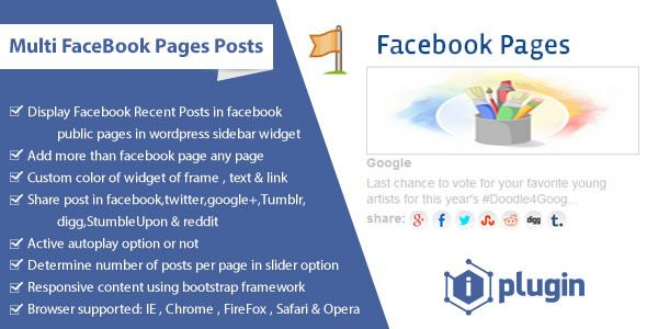 Multi FaceBook Pages Posts - Wordpress Plugins