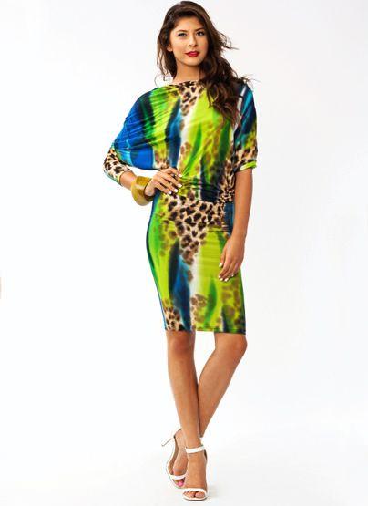 Draped Watercolor Safari Dress $38.40