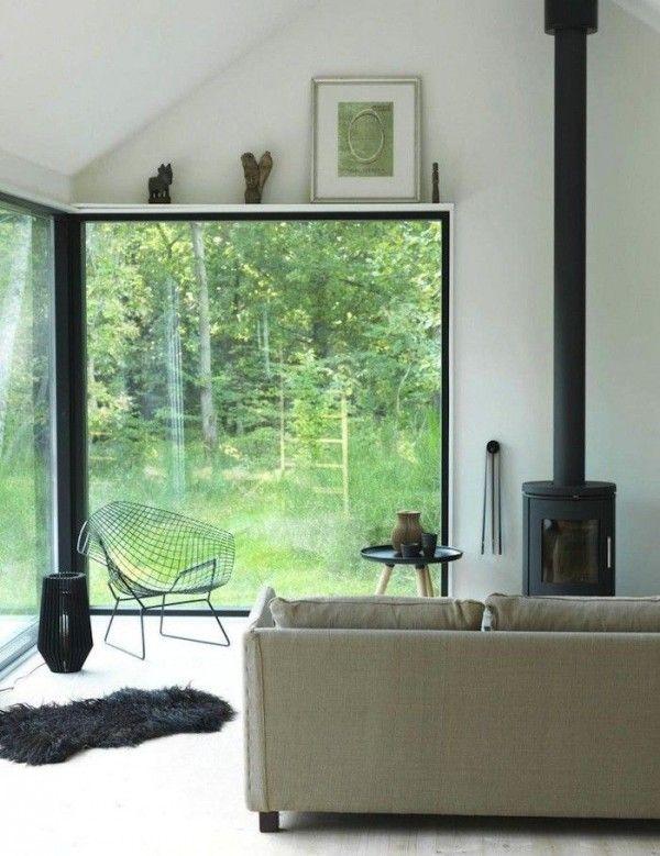 19 magnifiques id es de baies vitr es d couvrir baies vitr es int rieur scandinave et baies. Black Bedroom Furniture Sets. Home Design Ideas