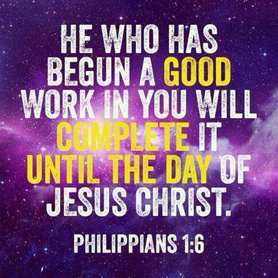 Begun a good work in you
