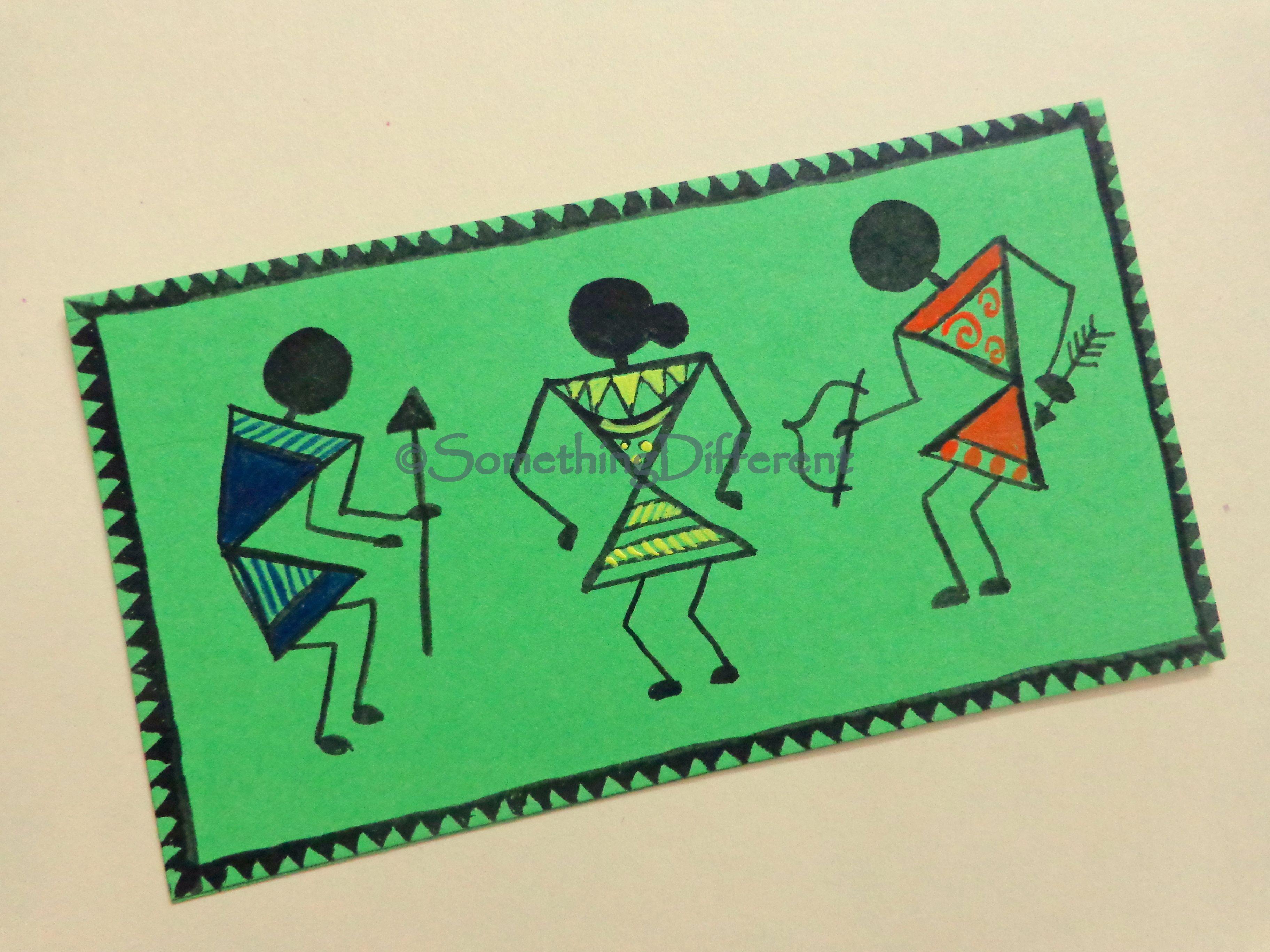 Warli painting greeting card warli painting greeting cards warli painting greeting card kristyandbryce Gallery