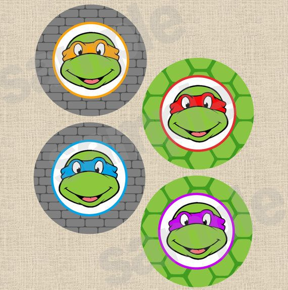 INSTANT DOWNLOAD - Printable DIY Teenage Mutant Ninja Turtles Inspired Centerpiece, Large Party Circles on Etsy, $6.50