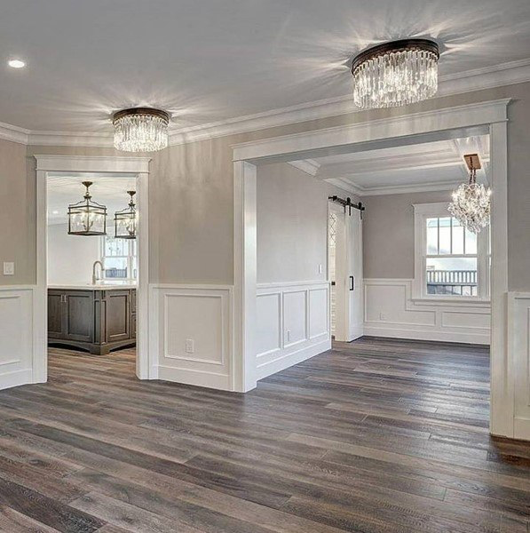 60 Wainscoting Ideas Unique Millwork Wall Covering And Paneling Designs Living Room Wood Floor Paint Colors For Living Room Luxury Homes