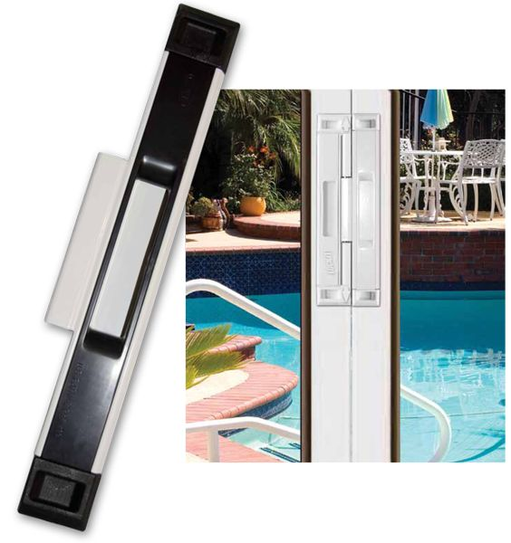 The Interlocking Latch Is Designed To Securely Lock Together Two Sliding Glass Doors That Meet In The Middle Sliding Glass Door Sliding Doors Glass Door Lock