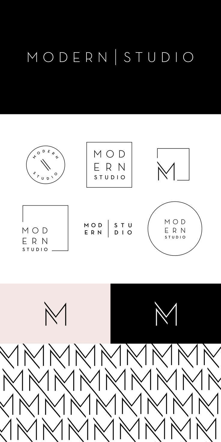 Modern Studio — Brighten Made in 2020 Design studio logo