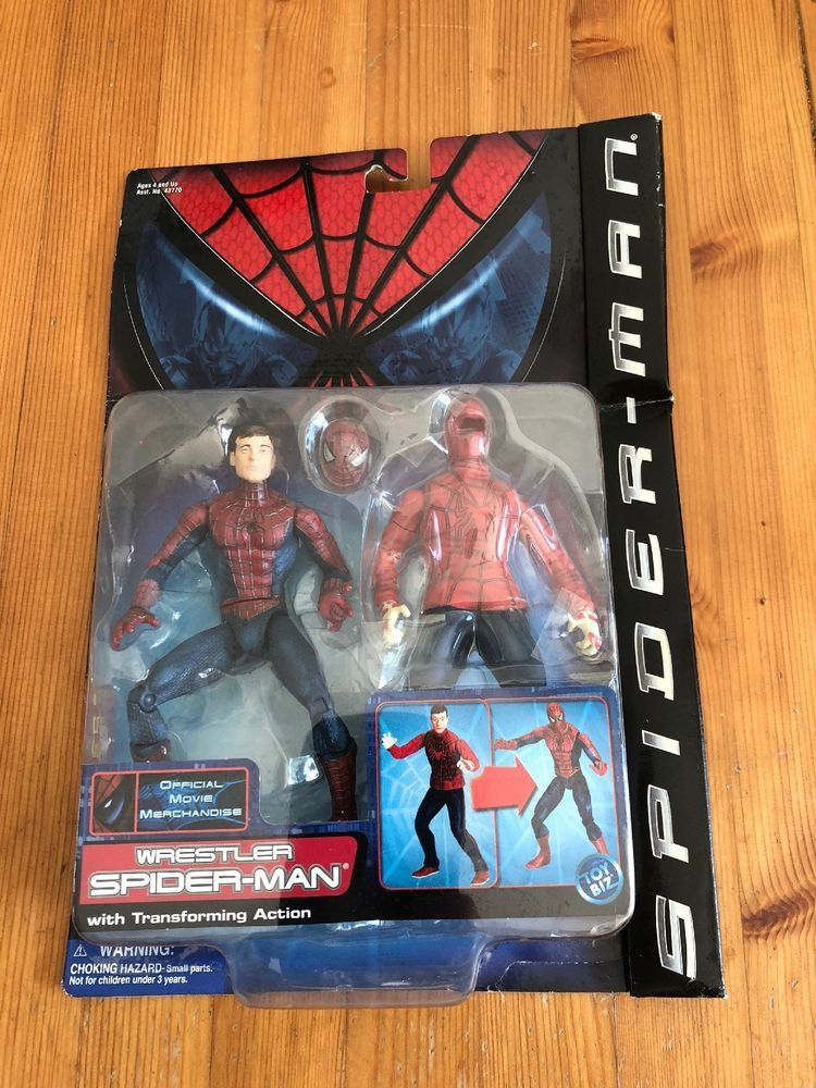 Wrestler Spider Man Toybiz Movie Series 3 2002 Marvel Action Figure Complete Spiderman Marvel Toys Marvel Action Figures