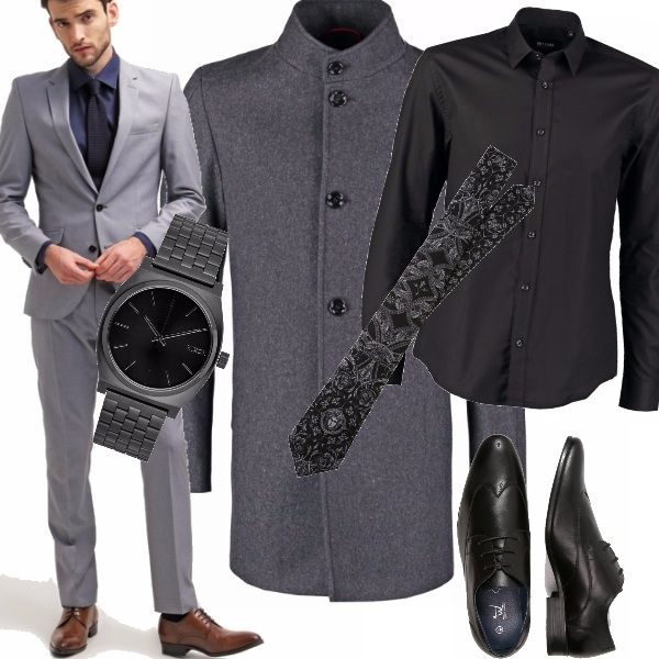Outfit Matrimonio Uomo Grigio : L uomo perfetto e curato che sceglie per un look formale