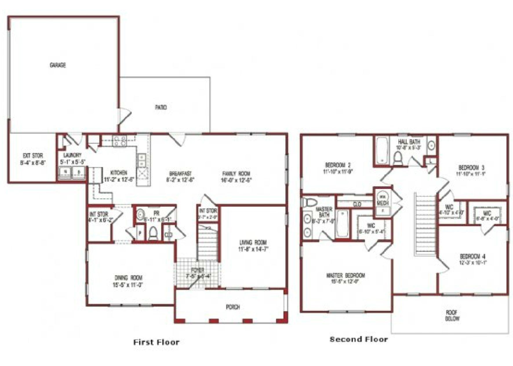 nsa monterey u2013 capehart forest neighborhood 4 bedroom home floor