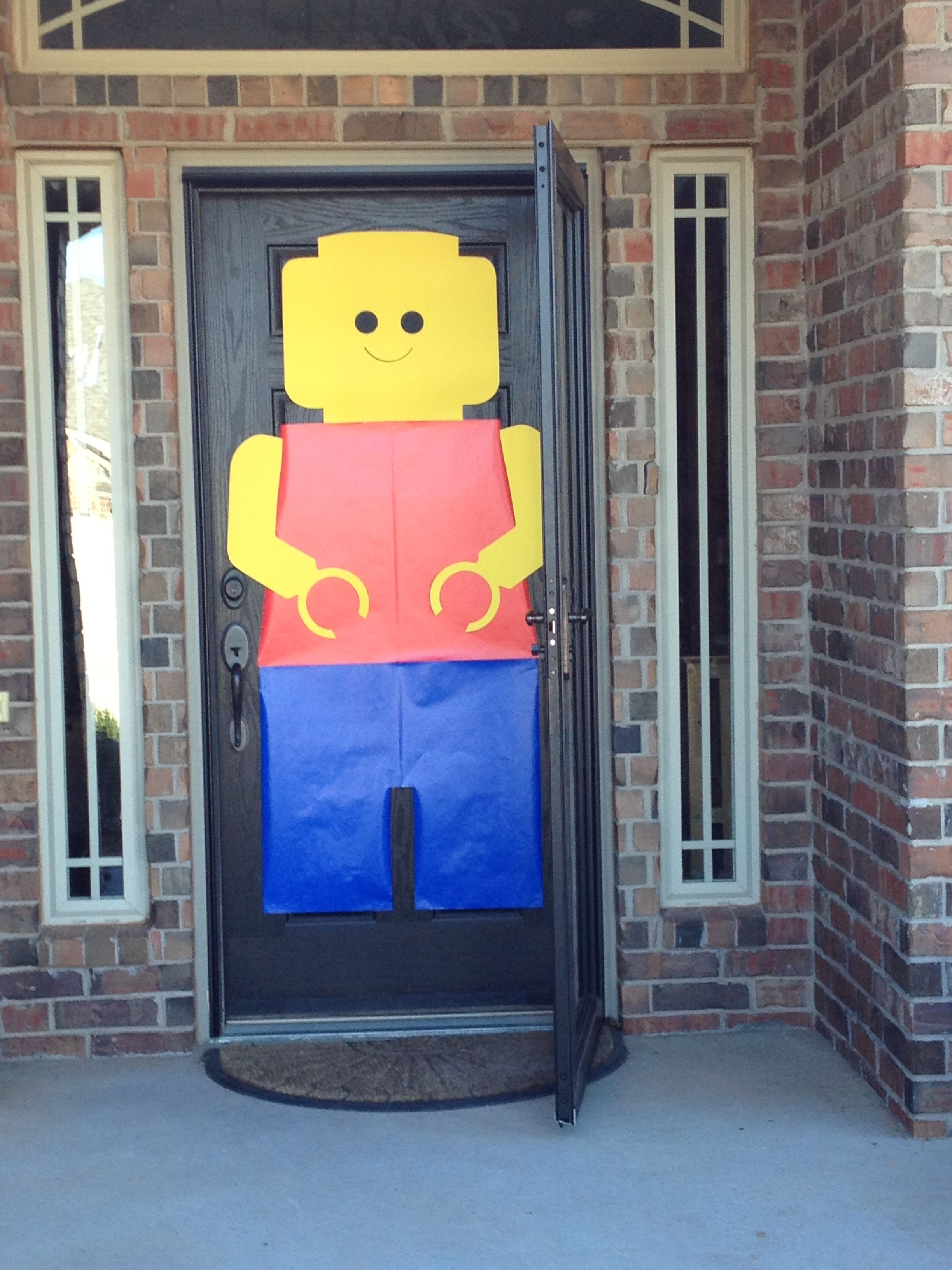 Lego Party Emery S Lego Birthday Door Happy 7th Birthday