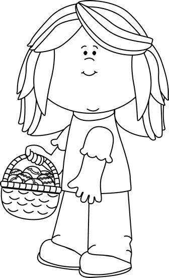 40++ Easter basket clipart black and white ideas