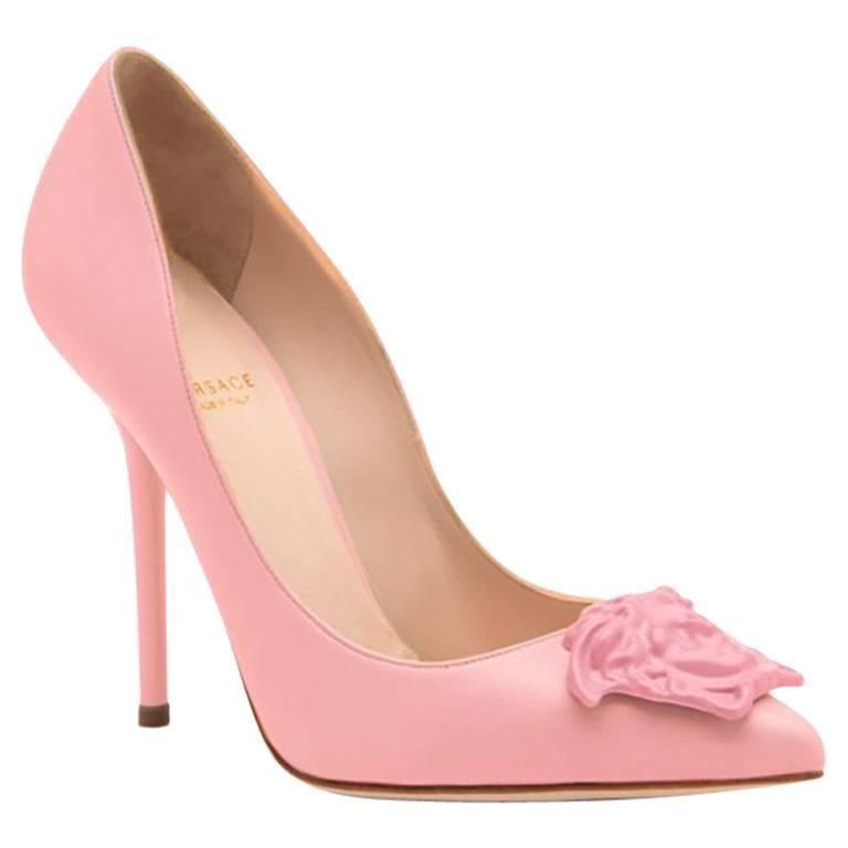 New Versace Palazzo Powder Pink Leather