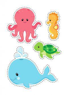 Deniz Canlıları Kalıbı Keçesiler Baby Printables Ve Crafts For Kids
