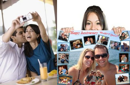 Personalized wedding anniversary photo gifts for husband from wife