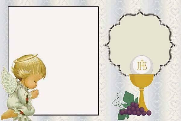 Invitaciones fiestas - Como hacer tarjetas de comunion ...