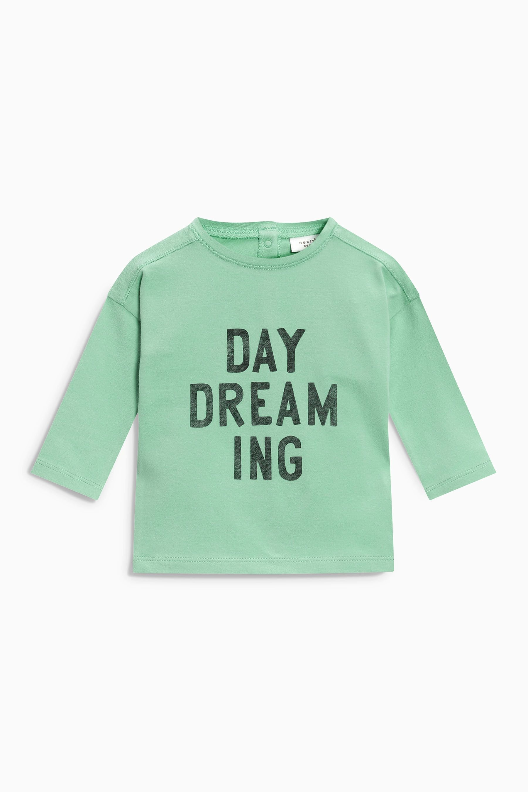 4ac37ae8937c Buy Green Slogan T-Shirt (0mths-2yrs) from the Next UK online shop ...