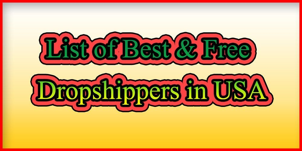 List of Best & Free Shopify Dropshipping Suppliers from