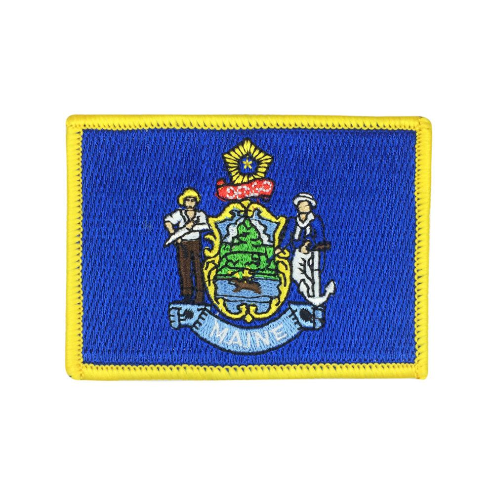 Maine State Flag Embroidered Patch
