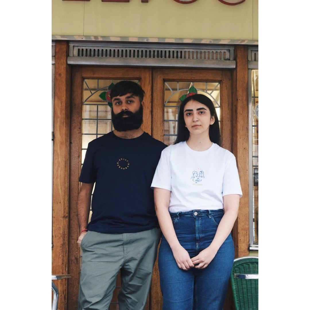 'Still European, Still Friends', an exploration of community, nuance behind the concept of 'Europe', and positive recognition of migrant workers, during the Brexit era. Order your tee today from our crowdfunder.  £7 from each sale goes to our embroiderer Mona.   * * * * * * *