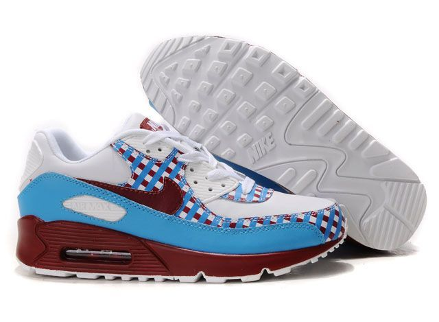 Ken Griffey Shoes Nike Air Max 90 White Sky Blue Red [Nike Air Max 90 -  Enjoy yourself with a pair of Nike Air Max 90 White Sky Blue Red shoes.