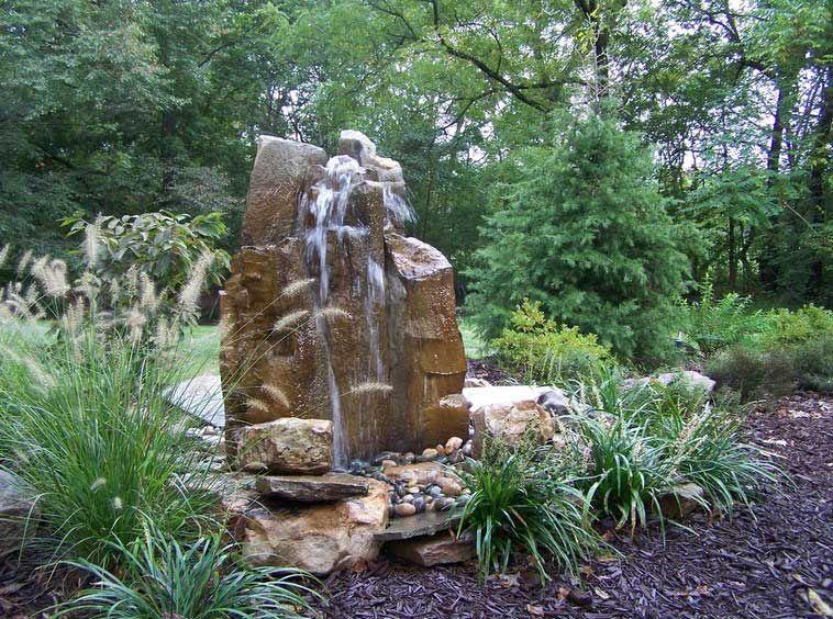 Small Gardens Ideas: Rock Garden Fountain For Planning Landscape .