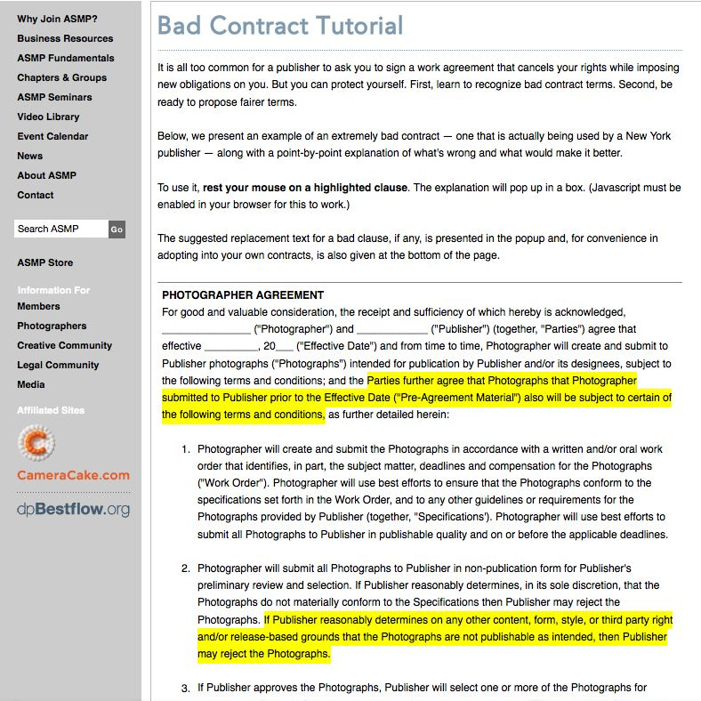 Tutorial on Contracts from ASMP Tutorial, Contract, Work