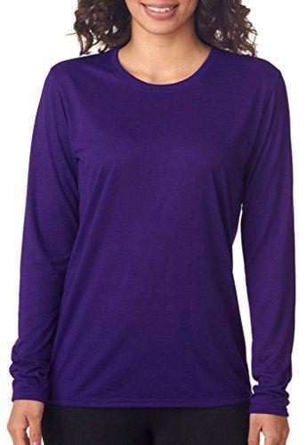 1c8fa23b18b2 Gildan 42400L Performance Ladies Long-Sleeve T-Shirt - Pu... https