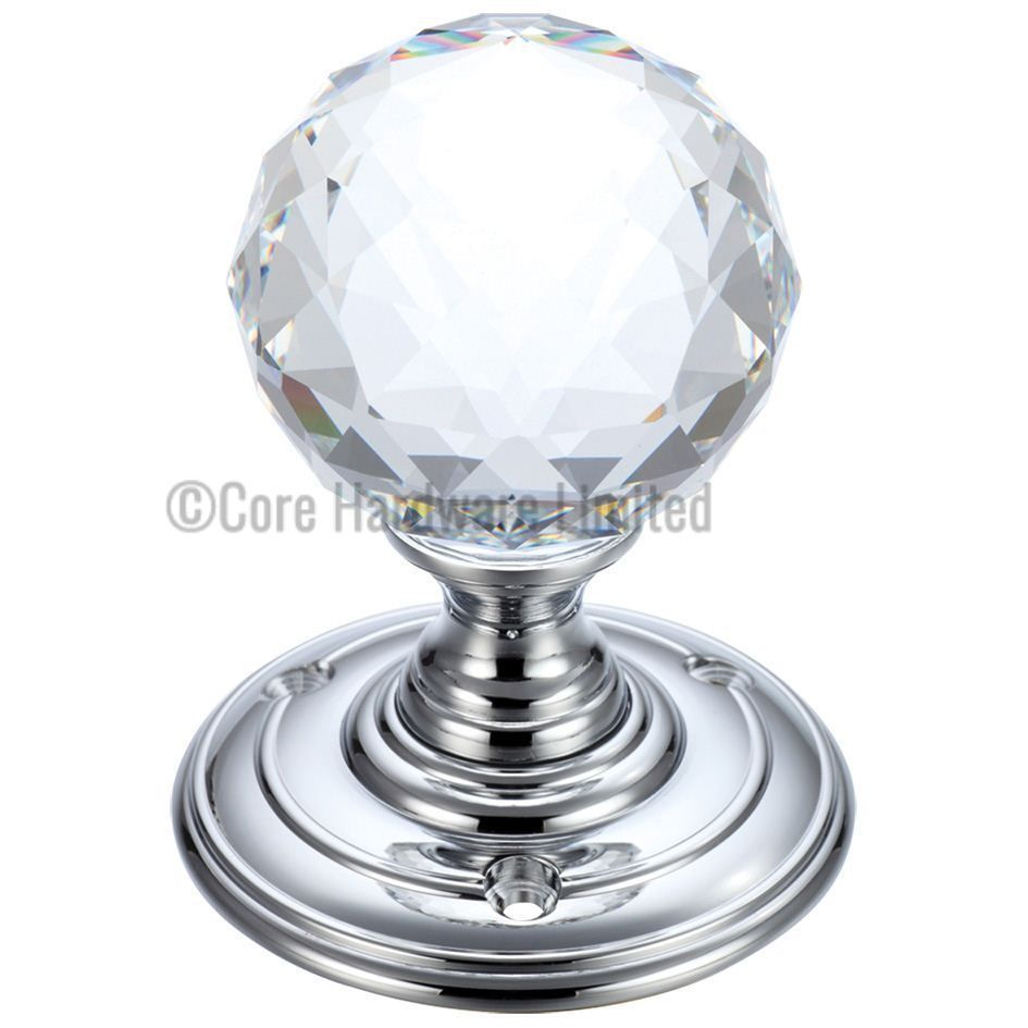 Picture of Fulton and Bray Glass faceted door knob - FB301CP ...