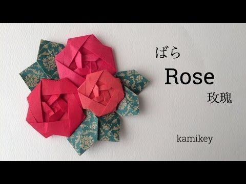 Origami Rose Youtube Paper Craft Pinterest