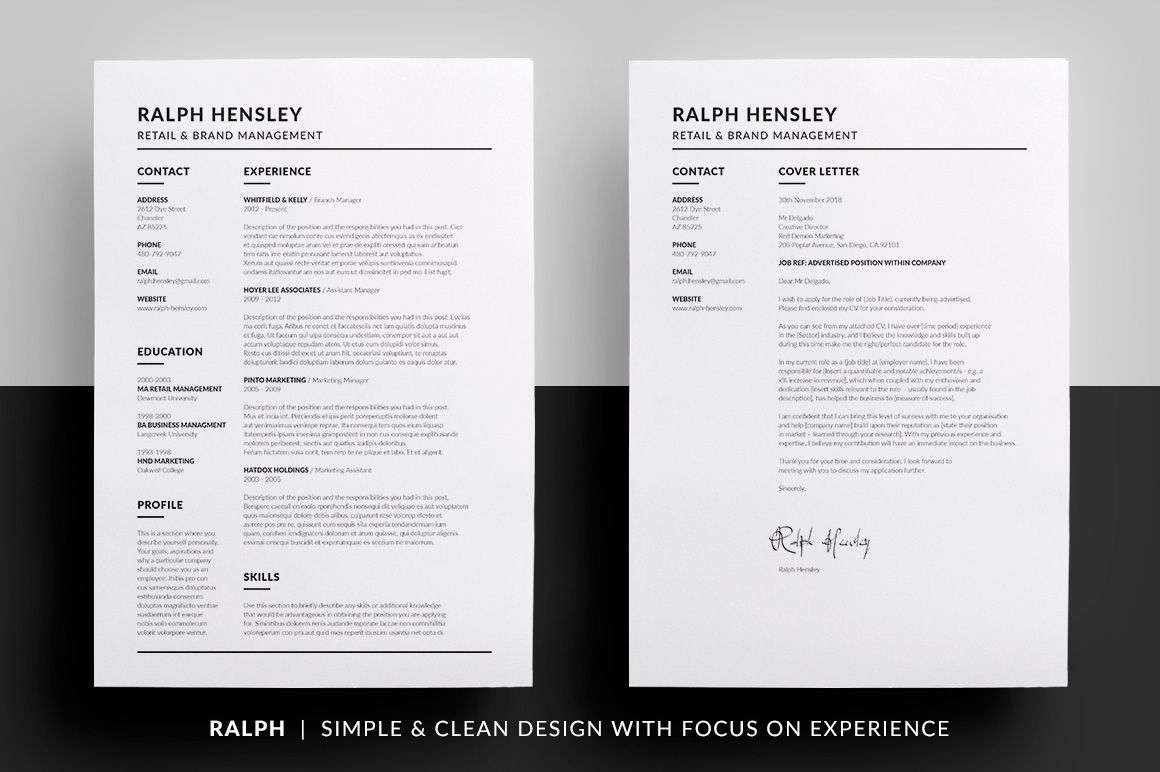 Essential Resume Collection  Resume Cv Cover Letter Template And