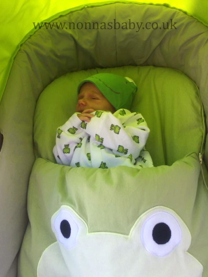646759ec16c6 Little Theo and His Googly Green Frog!!! Baby Theo is all nice and snuggly  and perfectly matching in his Googly Green Nap Mat. So cute!