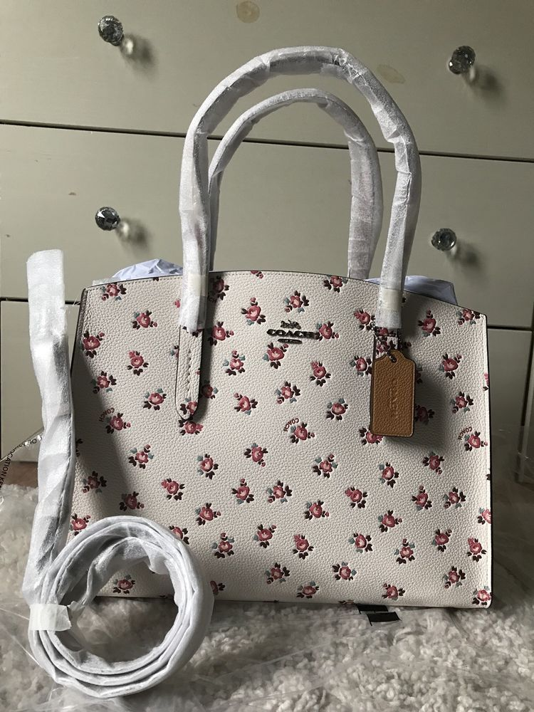 ea1e67bba587 NWT Coach Charlie Carryall with Floral Bloom Print in Chalk Multi Silver  26964  purses  fashion