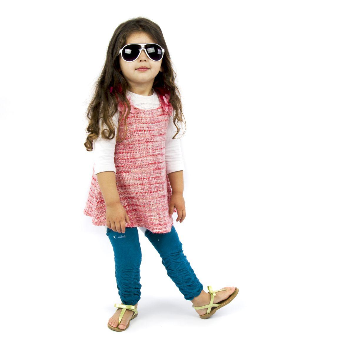 Hamilton's Black and Silver Aviator Style Baby Sunglasses