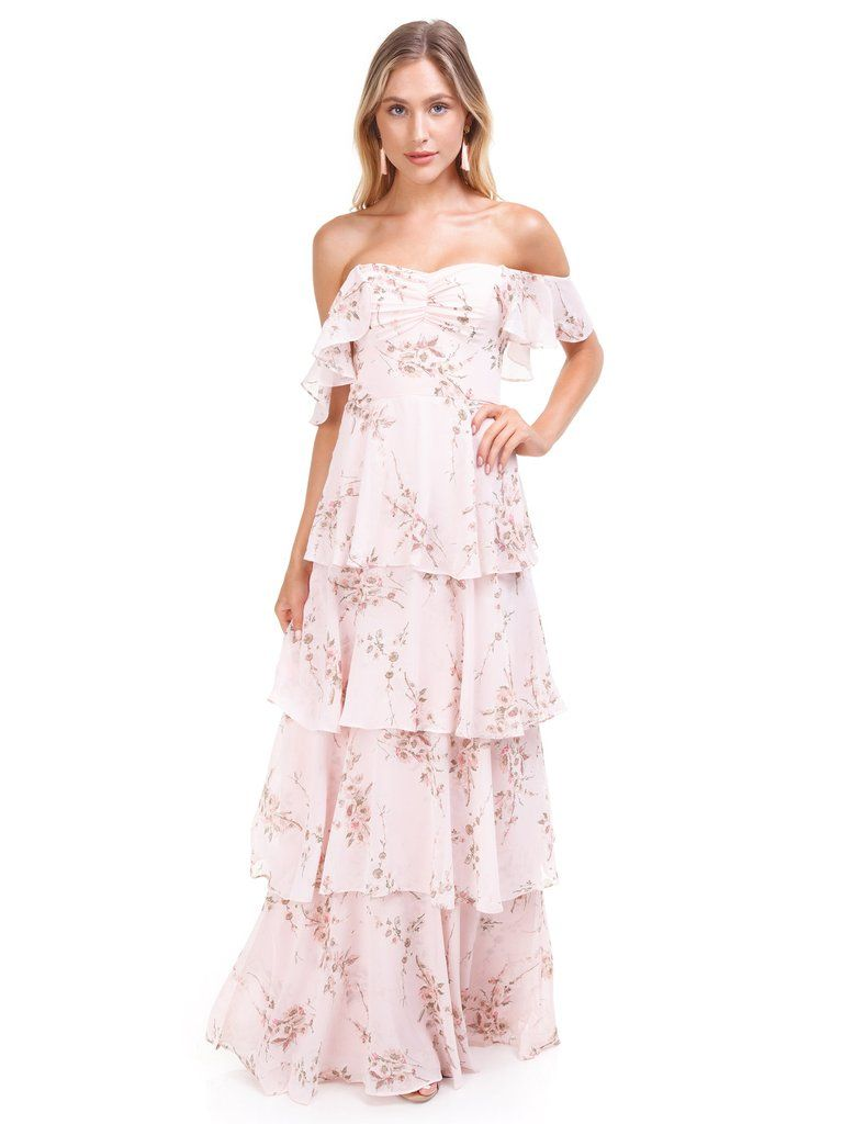 0fd830551282c WAYF - Abby Off Shoulder Tiered Maxi Dress - WAYF - Chelsea Tiered Ruffle  Maxi Dress - #fashionpass #womensfashion #clothingrental #outfits  #outfitideas ...