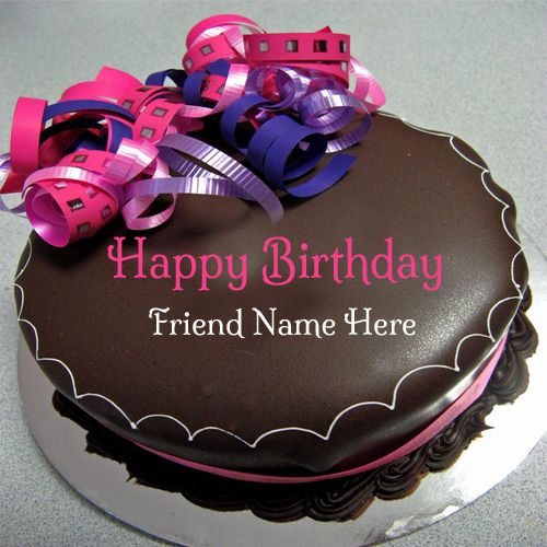 Write Your Name On Birthday Cake For Friends Misc Pinterest