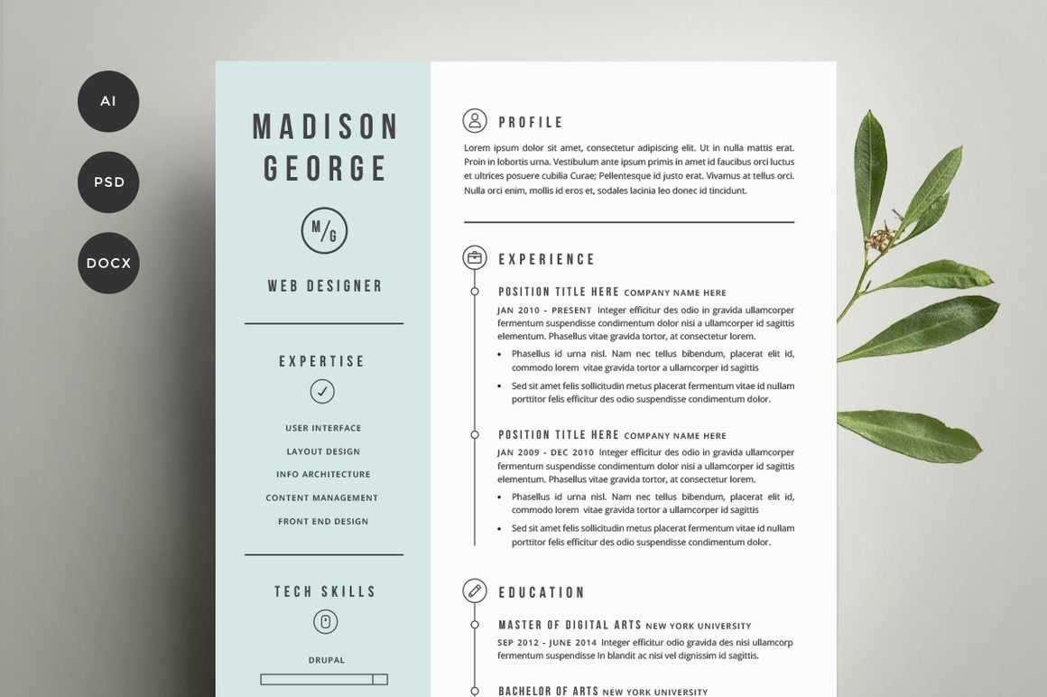 How To Design A Resume  Resume Cover Letter Template Cover