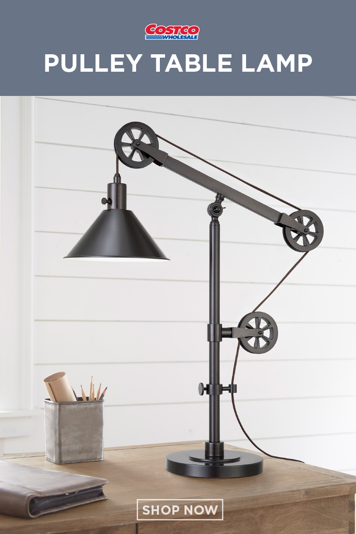 Industrial Pulley Table Lamp Industrial Table Lamp Pulley Lamps Lamp
