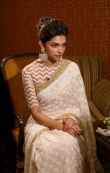 Deepika | Saree jacket designs, Stylish sarees, Saree dress