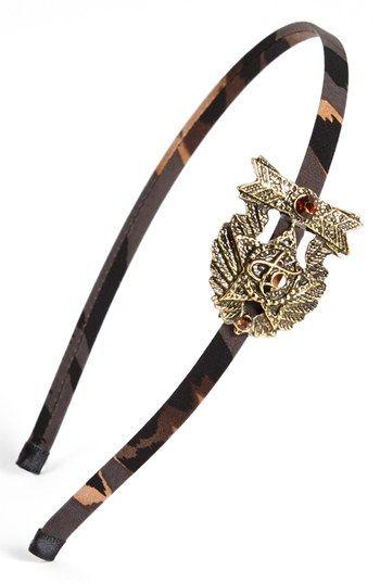 Cara Military Medal Headband   Nordstrom