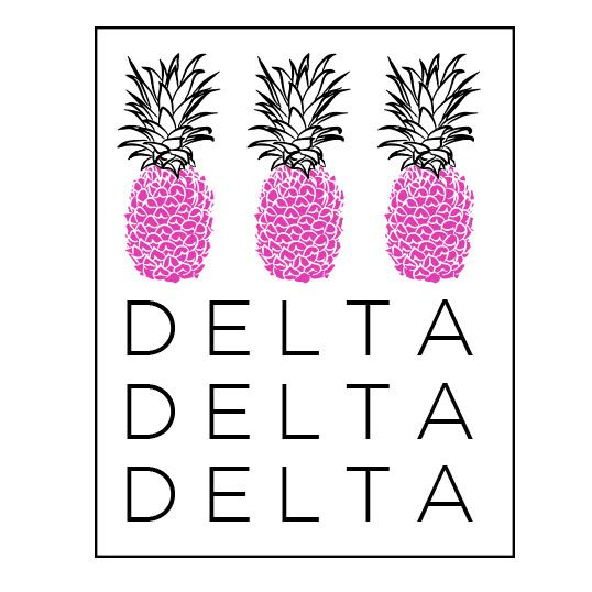 Shirts For Greeks   Tri Delta Pineapples