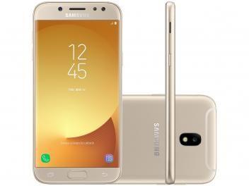 f3e36e6c6c Smartphone Samsung Galaxy J5 Pro 32GB Dourado - Dual Chip 4G Câm. 13MP Tela  5