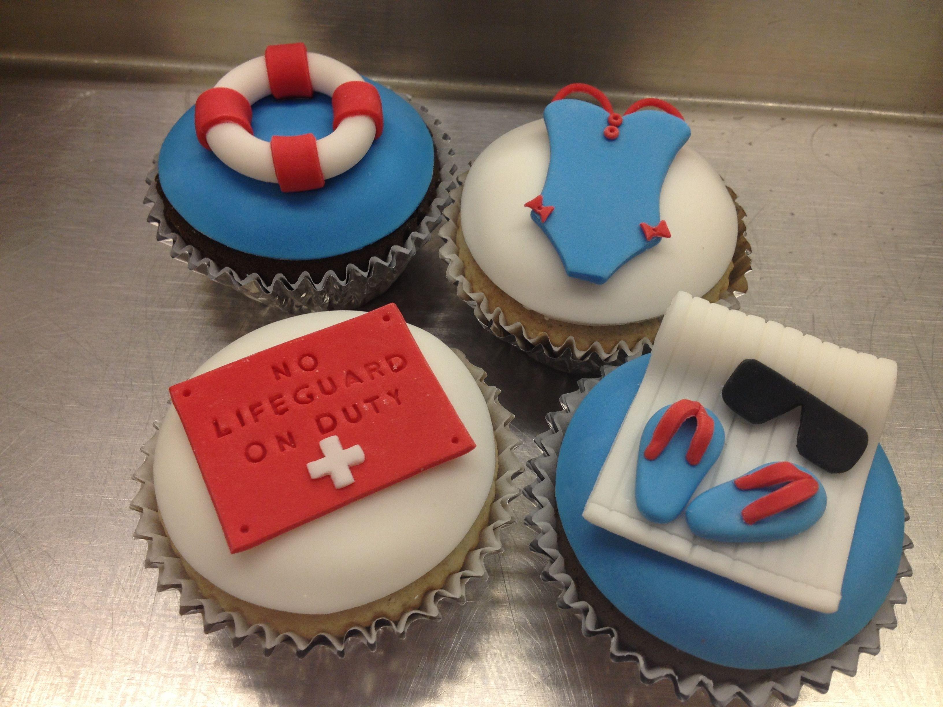 Lifeguard Cupcakes Cupcakes In 2019 Swimming Cake