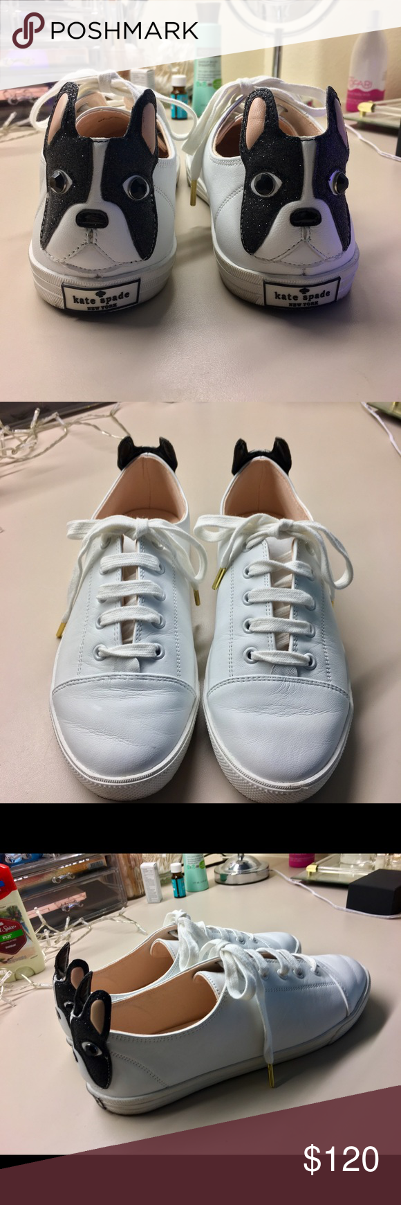 7201e26029d5 Kate Spade New York Lucie White Lace up Shoes Size 9M