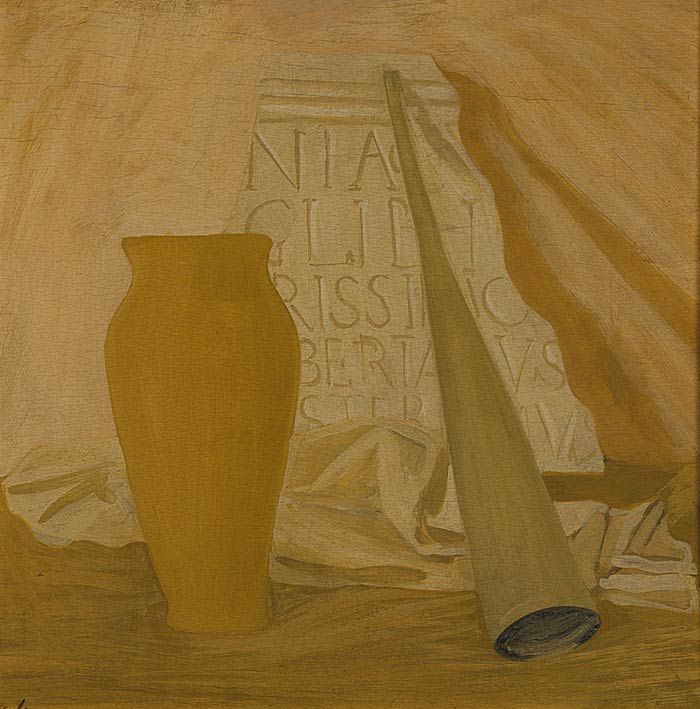Corrado Cagli (Ancona, 1910 – Roma, 1976) - L'Angelica - 1934 ca. - olio su tavola - Museo Novecento - Firenze