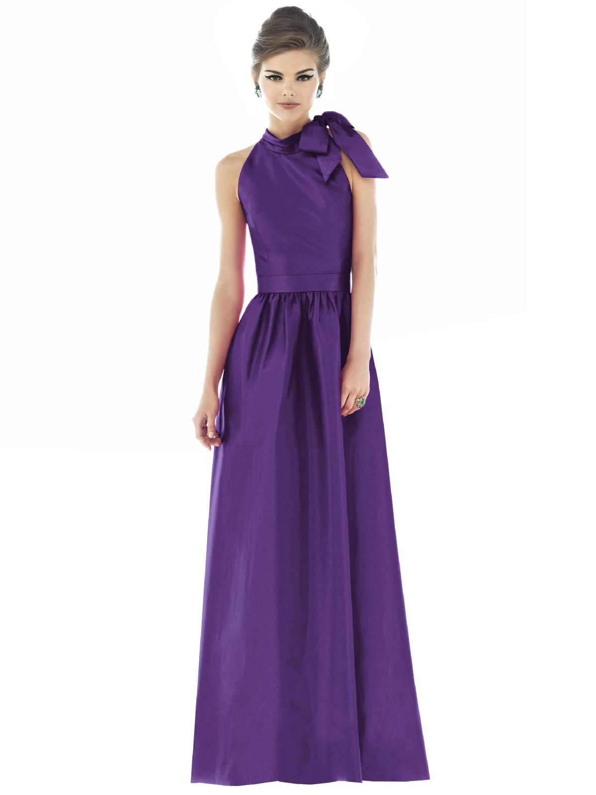 Blue and purple wedding dress  Alfred Sung Style D  Alfred sung Purple and Weddings