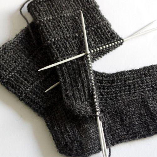 Easy sock knitting pattern for men | Socks | Pinterest | Knitting ...